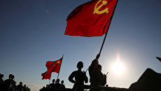 Военный парад, посвященный 90-летию Народно-освободительной армии Китая. 30 июля 2017