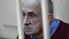 Бывший глава Удмуртии Александр Соловьев в Басманном суде во время рассмотрения ходатайства следствия об изменении меры пресечения. 7 августа 2017