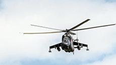 Вертолет Ми-24 во время тактических учений. Архивное фото