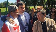 Михаил Саакашвили в Вильнюсе. 8 августа 2017