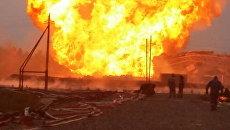 Пожар на скважине в Нижневартовском районе Югры. 10 августа 2017