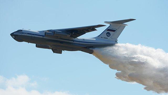 В Армении завершил работу российский противопожарный самолет Ил-76