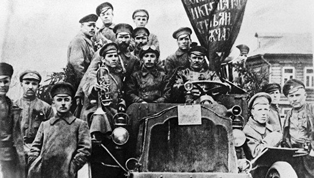 Участники Октябрьской революции