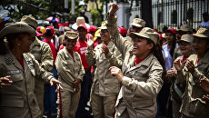 Митинг в поддержку президента Венесуэлы Николаса Мадуро и против президента США Дональда Трампа в Каракасе