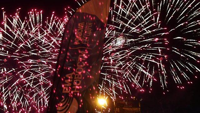 На международном фестивале фейерверков Ростех в Братеевском каскадном парке в Москве. Архивное фото