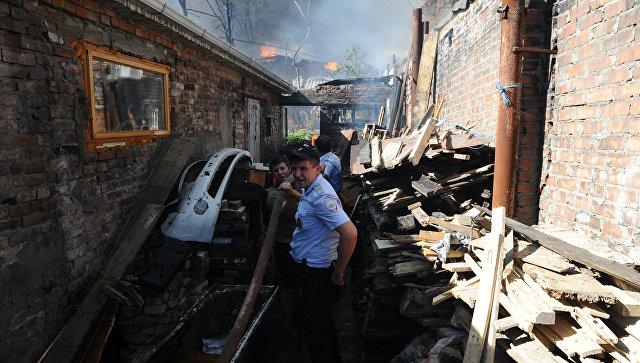 При пожаре в Ростове-на-Дону пострадали три человека