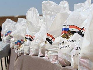 Гуманитарная помощь жителям Сирии. Архивное фото