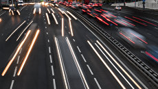 Автомобильный трафик в Москве. Архивное фото