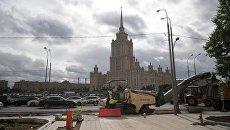 Реконструкция улиц в Москве. Архивное фото