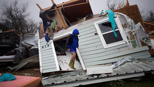 Последствия урагана Харви в Рокпорте, штат Техас, США. 26 августа 2017
