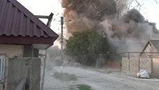 Силовики взорвали убежище боевиков после спецоперации в Хасавюрте