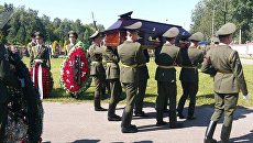Похороны посла России в Судане Миргаяса Ширинского на кладбище города Минска, Беларусь. 31 августа 2017