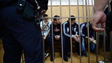 Обвиняемые по делу о теракте в метро Санкт-Петербурга на заседании в Басманном суде Москвы. 4 сентября 2017