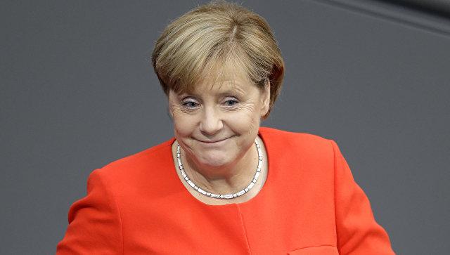 Выступление канцлера Германии Ангелы Меркель в рамках предвыборной кампании в городе Гейдельберге на юге Германии. Архивное фото