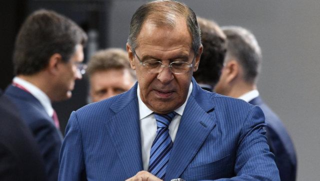 Министр иностранных дел РФ Сергей Лавров на Восточном экономическом форуме. Архивное фото