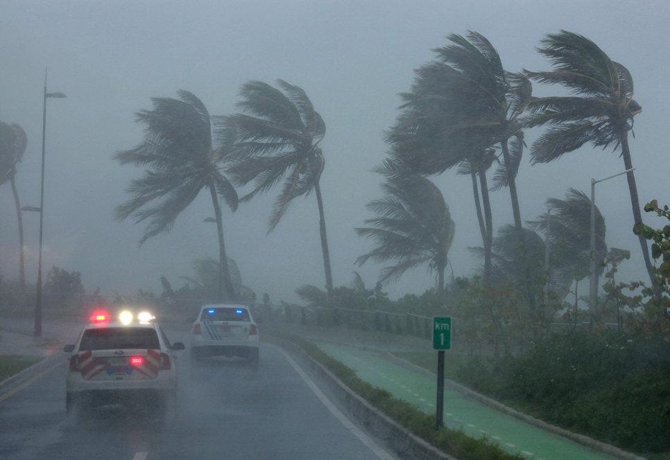 Ураган Ирма в городе Сан-Хуан в Пуэрто-Рико