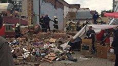 В Балашихе обрушилась стена кинотеатра Союз