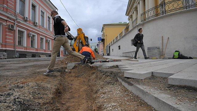 Хрущевский переулок в Москве, где ведутся работы по реконструкции
