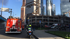 Пожар в районе возводящегося небоскреба Neva Towers международного делового центра Москва-Сити. 9 сентября 2017