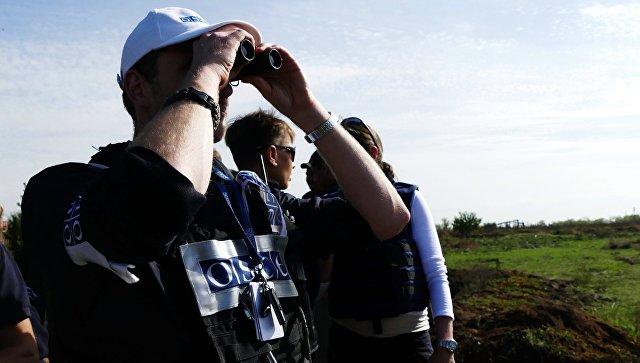 Наблюдатели ОБСЕ в Донецкой области. Архивное фото