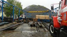 Автомобиль МЧС на территории шахты Яреганефть в Коми. 14 сентября 2017