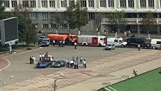 На центральной площади Белгорода обнаружено тело мужчины и один пострадавший. 14 сентября 2017