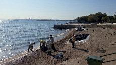 Последствия разлива нефти у берегов Греции