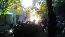 Ситуация возле Ильичевского райсуда после вынесения оправдательного приговора по делу о событиях 2 мая 2014 года в Одессе. 18 сентября 2017