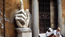 Внутренний дворик Дворца Консерваторов на площади Капитолия, Рим.