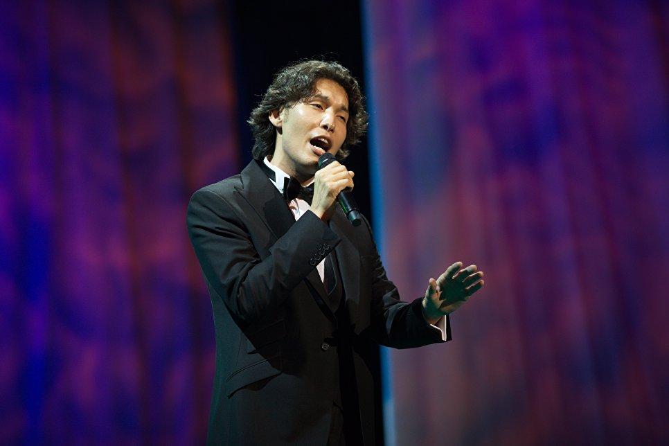 Участник фестиваля из Республики Казахстан Алибек Альмадиев