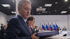 Мэр Москвы Сергей Собянин перед началом заседания президиума Государственного совета. 22 сентября 2017