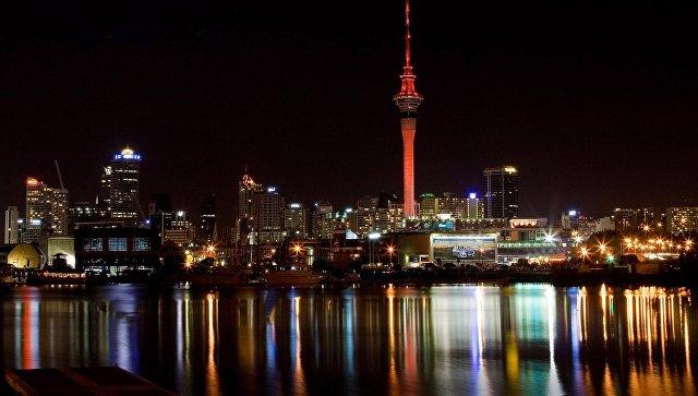 Ночной Окленд, Новая Зеландия. Архивное фото