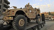 Американский бронеавтомобиль Ошкош конвоируется в расположение Сирийских демократических сил. 19 сентября 2017