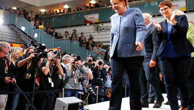 Партия Меркель выиграла выборы вбундестаг