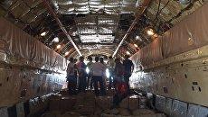 Груз гуманитарной помощи, прибывший в Мексику из России