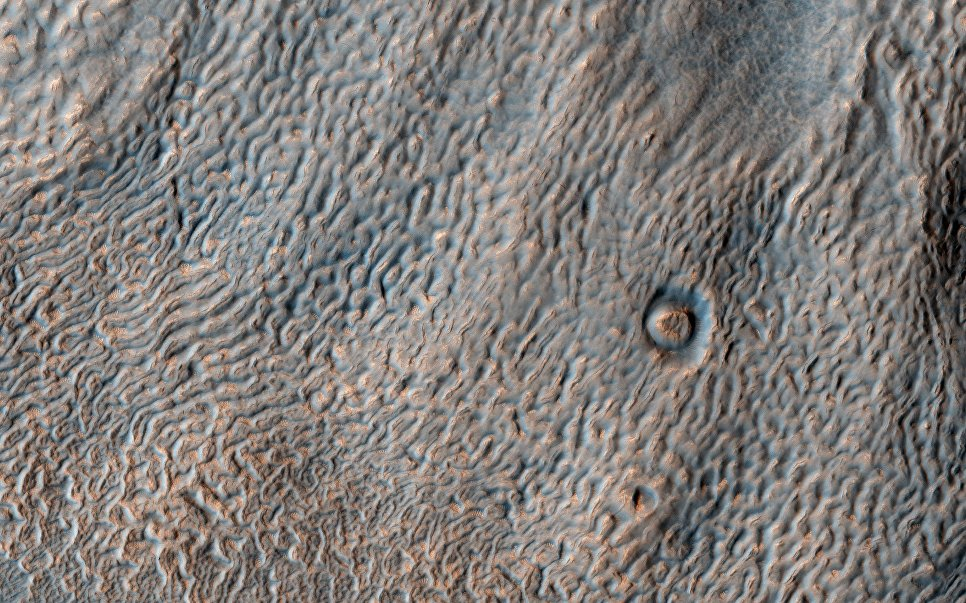 Снимок Марса, сделанный Марсианским разведывательным спутником (МРС)
