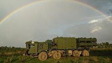 Береговой ракетный комплекс Бал во время подготовки к запуску противокарабельной крылатой ракеты в рамках совместных стратегических учений вооруженных сил России и Белоруссии Запад-2017