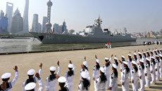 Корабль ВМФ Китая в Шанхае. Архивное фото