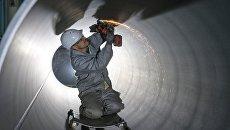 Нанесение внутреннего покрытия на трубы, предназначенные для газопровода Северный поток - 2