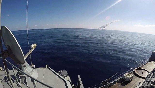 Нанесение ударов по террористам в Сирии из акватории Средиземного моря подводными лодками ЧФ. Архивное фото