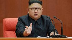 Ким Чен Ын на пленуме ЦК Трудовой партии Кореи. 8 октября 2017