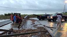 Штат Алабама во время урагана Нэйт. 8 октября 2017