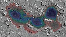 Впадина Эридана на Марсе, где были найдены отложения гейзерных горных пород