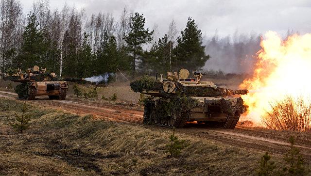 Танки M1 Abrams на международных военных учениях Summer Shield XIV
