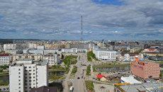 Вид на центральную часть города Якутска. Архивное фото