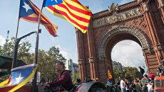 Ситуация у парламента Каталонии в Барселоне. Архивное фото
