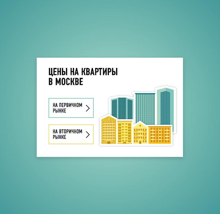 Карта цен на жилье в Москве