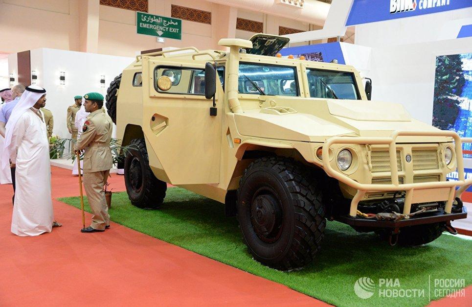 Бронеавтомобиль Тигр на международной оборонной выставке BIDEC-2017 в Бахрейне