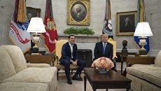 Премьер-министр Греции Алексис Ципрас и президент США Дональд Трамп и во время встречи в Вашингтоне, США. 17 октября 2017