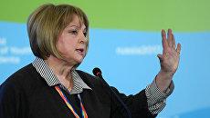 Председатель ЦИК РФ Элла Памфилова на XIX Всемирном фестивале молодежи и студентов в Сочи. 17 октября 2017